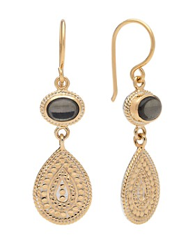 Anna Beck - Pyrite Double Drop Earrings in 18K Gold-Plated Sterling Silver