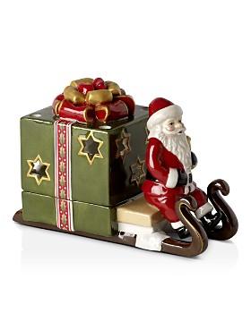 Villeroy & Boch - Christmas Light Decolight, Santa Sleigh with Green Gift Box