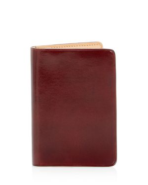 IL BUSSETTO Leather Bi-Fold Card Case - 100% Exclusive in Red