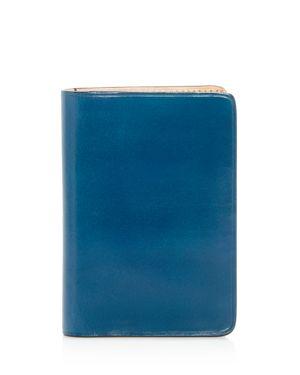 IL BUSSETTO Leather Bi-Fold Card Case - 100% Exclusive in Poseidon Blue
