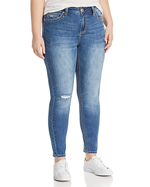 Seven7 Jeans Plus Distressed Skinny Jeans in Source