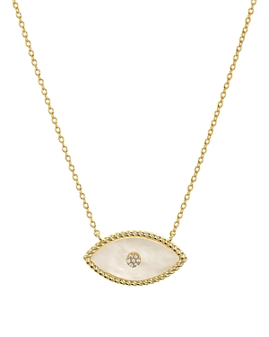 Argento Vivo Evil Eye Mother-of-Pearl Pendant Necklace in 14K Gold-Plated Sterling Silver, 16