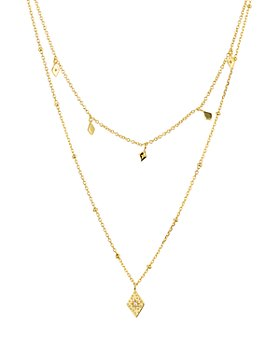 """Argento Vivo - Layered Pendant Necklace in 14K Gold-Plated Sterling Silver, 14""""-16"""""""