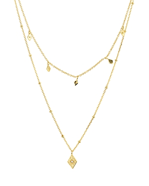 Layered Pendant Necklace in 14K Gold-Plated Sterling Silver