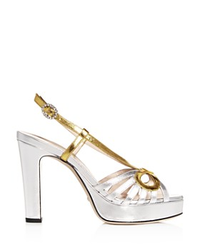 Gucci - Women's Zephyra Slingback High-Heel Platform Sandals