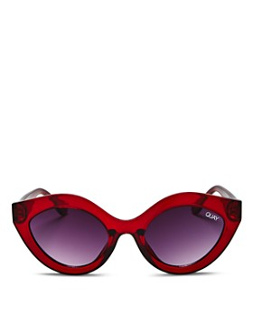 Quay - Women's Goodnight Kiss Oval Sunglasses, 59mm