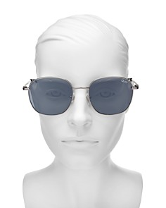 Quay - Women's Jezabell Mirrored Round Sunglasses, 54mm