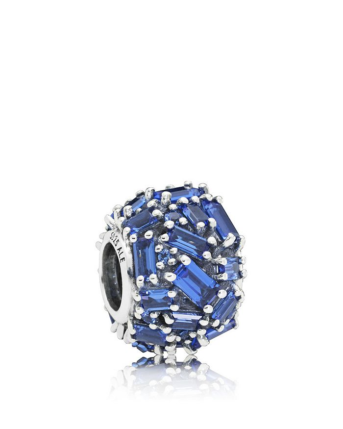 Pandora - Sterling Silver & Cubic Zirconia Chiseled Elegance Blue Charm