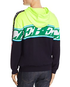 Iceberg - Color-Blocked Mixed-Logo Hooded Sweater