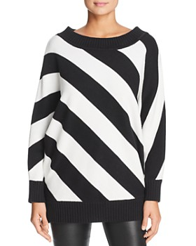 Kenneth Cole - Striped Boat-Neck Sweater