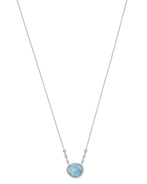 Meira T 14K White Gold Light Opal & Diamond Pendant Necklace, 18-Jewelry & Accessories