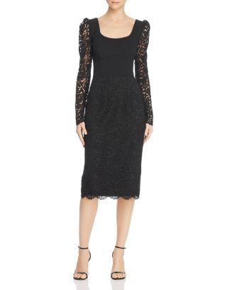 Le Saint Lace Combo Dress by Rebecca Vallance