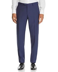 BOSS - Leenon Textured Solid Regular Fit Dress Pants