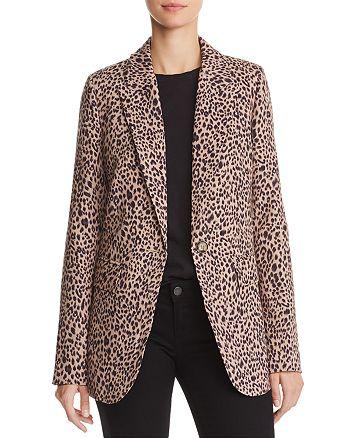 AQUA - Leopard Print Blazer - 100% Exclusive
