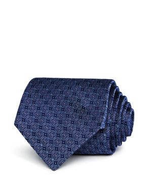 The Men's Store at Bloomingdale's Circle-Pattern Silk Classic Tie - 100% Exclusive