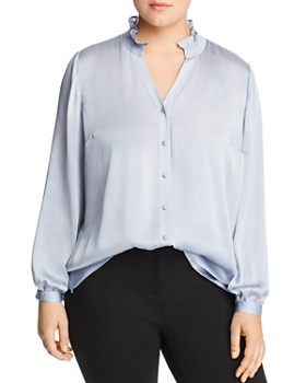 VINCE CAMUTO Plus - Ruffled-Collar Blouse