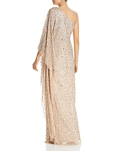 Adrianna Papell - One-Shoulder Sequined Gown