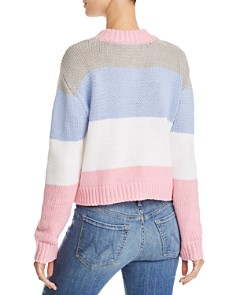 AQUA - Striped Cropped Sweater - 100% Exclusive