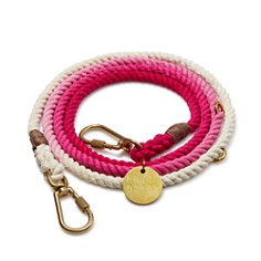 Found My Animal - Magenta Ombré Cotton Rope Dog Leash, Adjustable