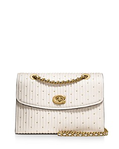 COACH - Parker Studded Quilted Leather Convertible Shoulder Bag