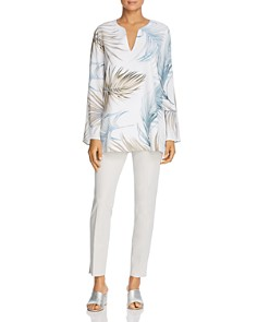 Lafayette 148 New York - Wilmer Palm Print Blouse
