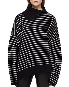 ALLSAINTS - Maddie Asymmetric Striped Sweater