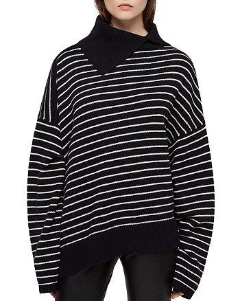 ALLSAINTS - Maddie Asymmetric Striped Sweater