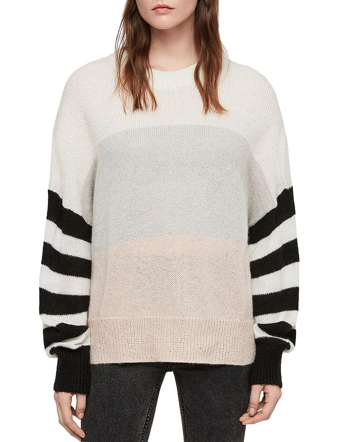 25b8890e3 ALLSAINTS - Nicoli Color-Block Striped Sweater
