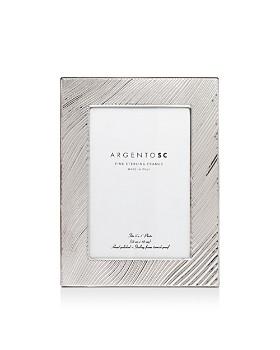 "Argento SC - Adelaide Wave-Pattern Sterling Silver Frame, 5"" x 7"""