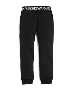 Armani - Girls' Fleece Logo Tape Jogger Pants - Little Kid, Big Kid