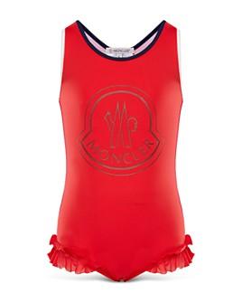 Moncler - Girls' Ruffled Swimsuit - Big Kid