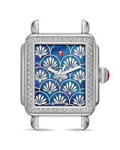 MICHELE - Deco Fleur Diamond Watch Head, 33mm x 35mm