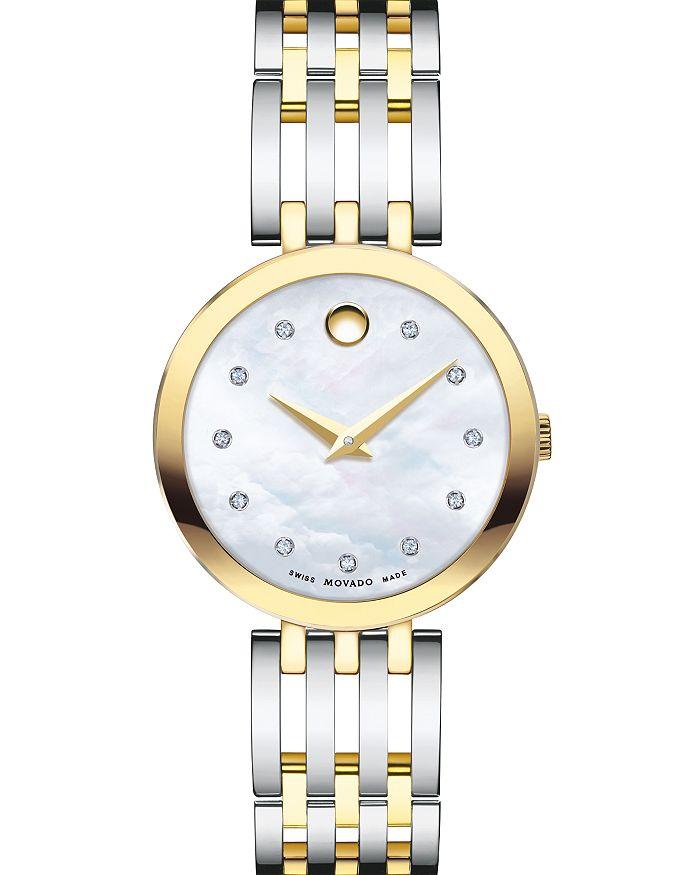 Movado - Esperanza Diamond Two-Tone Watch, 28mm