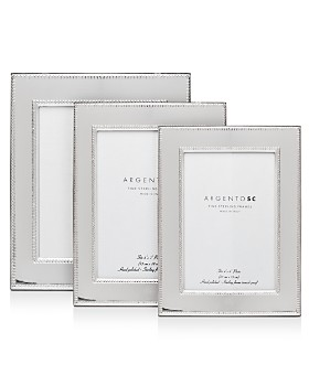 Argento SC - Amira Double-Bead Sterling Silver Frames