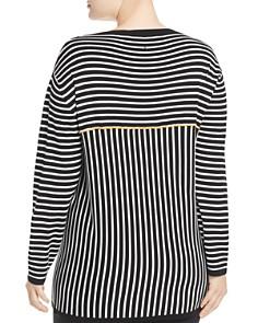 Marina Rinaldi - Acquario Striped V-Neck Sweater