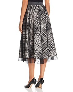 Weekend Max Mara - Check-Print Tulle-Overlay Skirt