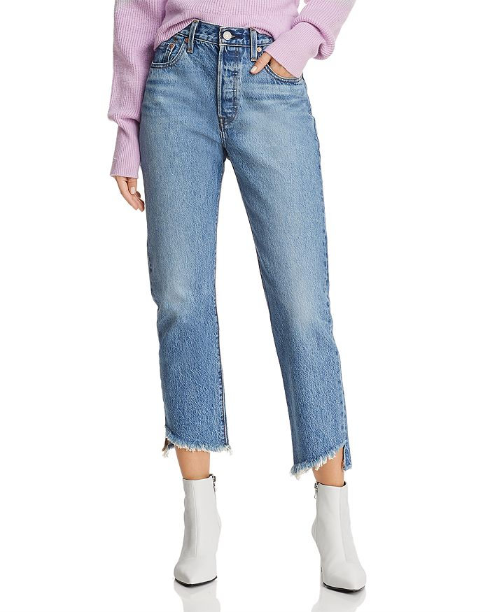 020e01687c2 Levi's 501 Crop Straight Jeans in Call Me Crazy | Bloomingdale's