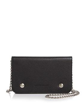 Longchamp - Le Foulonne Pebbled Leather Chain Wallet ... cf3fbf06bc492