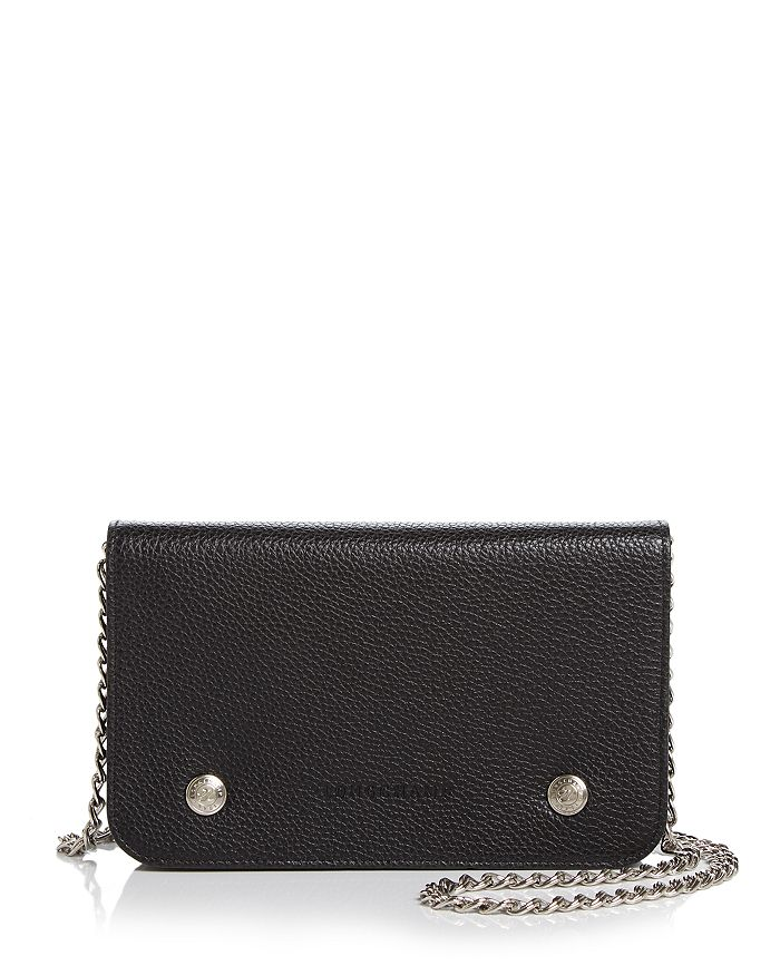 636fd93d781 Longchamp Le Foulonne Pebbled Leather Chain Wallet | Bloomingdale's