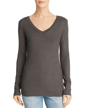 MICHELLE BY COMUNE Michelle By Comune Zuma Rib-Knit Tee in Charcoal