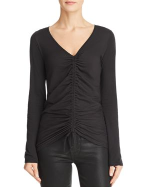 MICHELLE BY COMUNE Michelle By Comune Wishram Ruched Drawstring Tee in Black