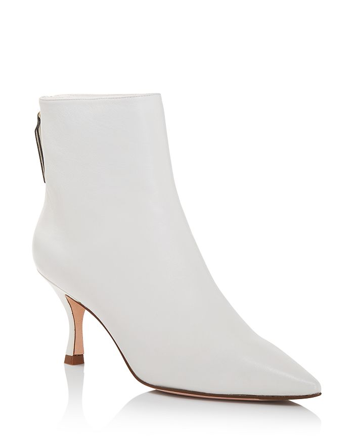 Stuart Weitzman - Women's Juniper 70 Leather Pointed Toe Booties
