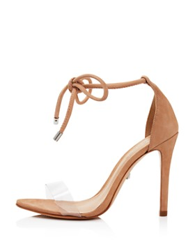 SCHUTZ - Women's Monique Clear Lace-Up High-Heel Sandals