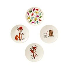kate spade new york - Festive Foxes Tidbit Plates