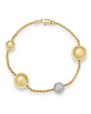 Bloomingdale's Diamond Beaded Bracelet in 14K Yellow Gold, 1.1 ct. t.w. - 100% Exclusive