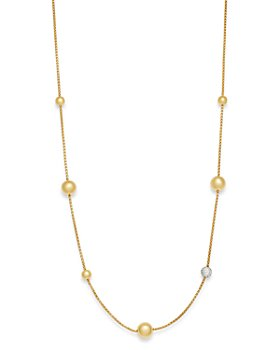 Bloomingdale's - Diamond Bead Strand Necklace in 14K Yellow Gold, 1.1 ct. t.w. - 100% Exclusive