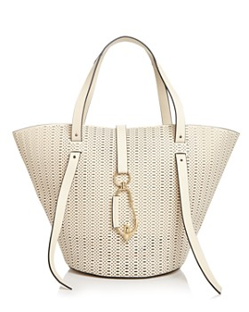 Zac Posen Belay Large Perforated Leather Tote