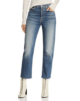 MOTHER - The Tomcat High-Rise Straight-Leg Jeans in We All Scream