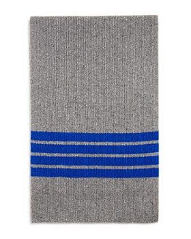 The Men's Store at Bloomingdale's - Stripe-Accented Rib-Knit Scarf - 100% Exclusive
