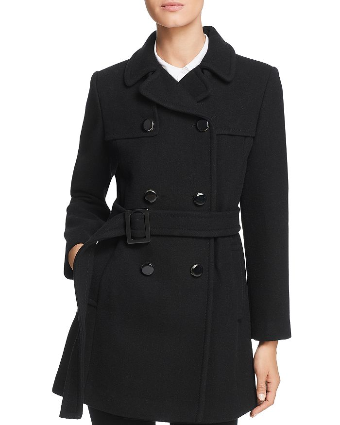 5fca8fc62f90 kate spade new york Belted Double-Breasted Button Front Coat ...